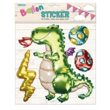 Ballon-Sticker Drache