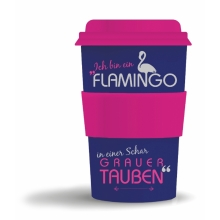 Bamboo-Becher Flamingo