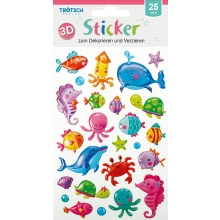 3D Sticker Meerestiere