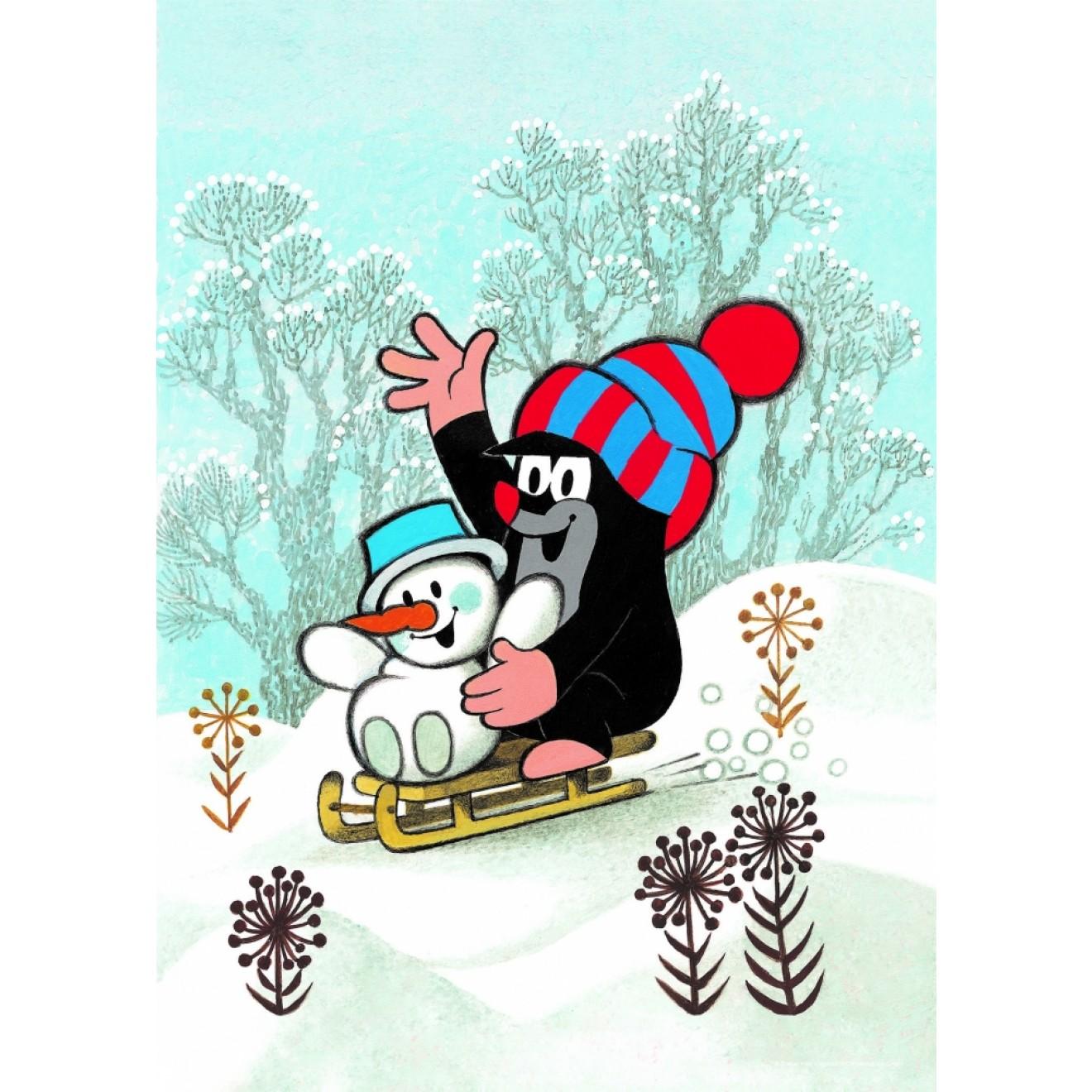 Der Kleine Maulwurf Schneemann