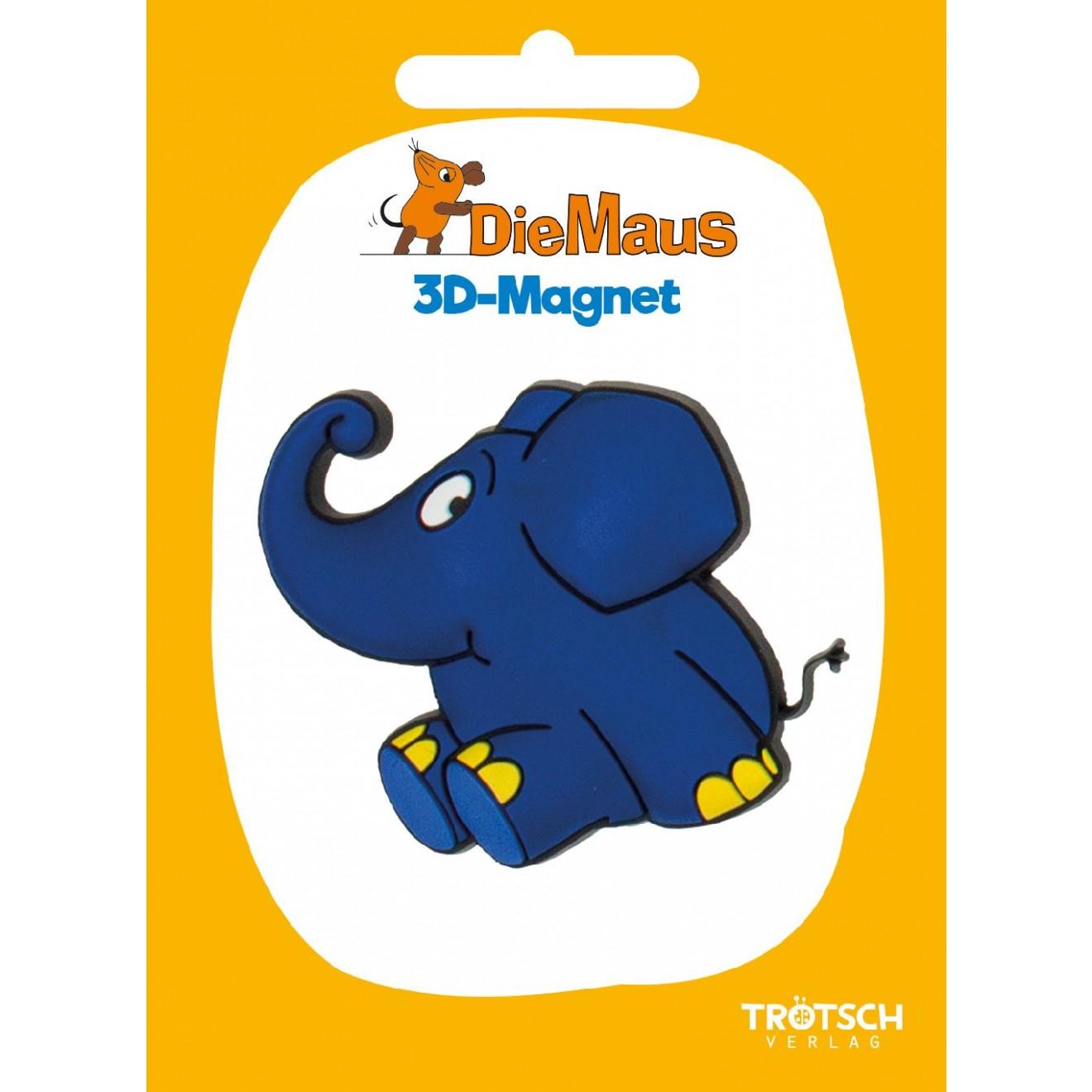 3d magnet die maus elefant winkt tr tsch verlag online shop. Black Bedroom Furniture Sets. Home Design Ideas