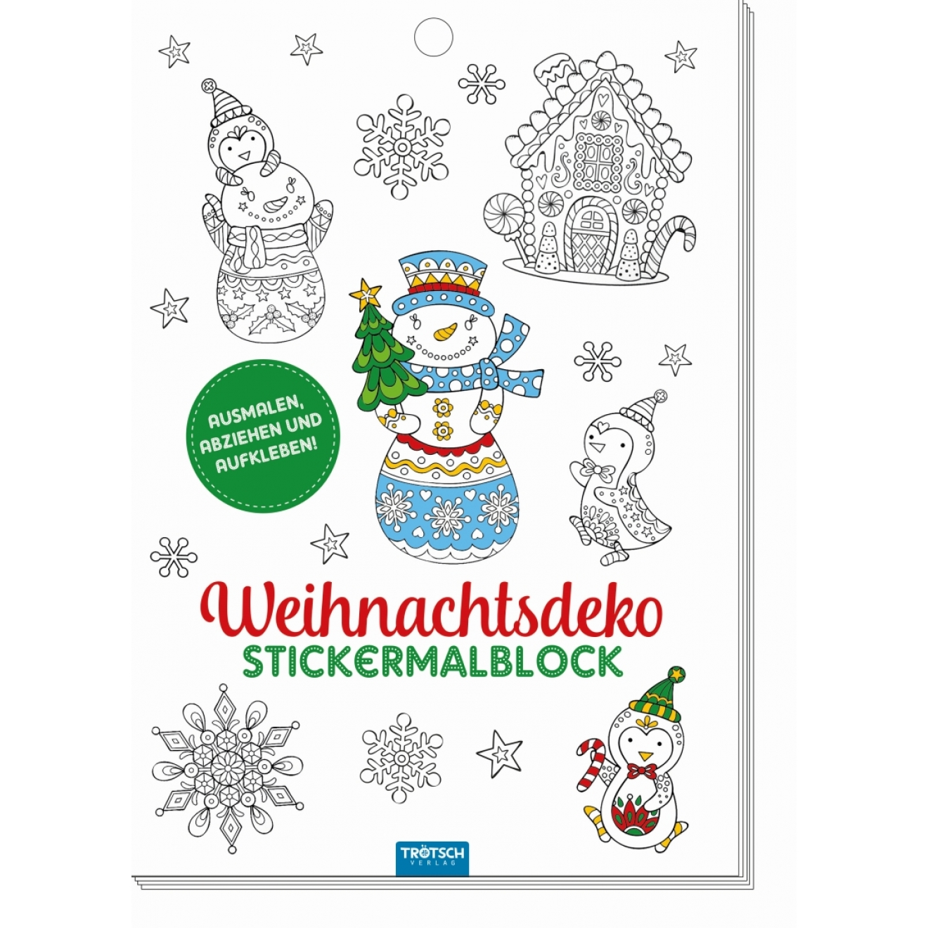 weihnachtsdeko stickermalblock tr tsch verlag online shop. Black Bedroom Furniture Sets. Home Design Ideas